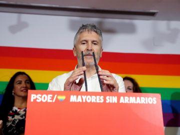 Grande-Marlaska en un acto del PSOE