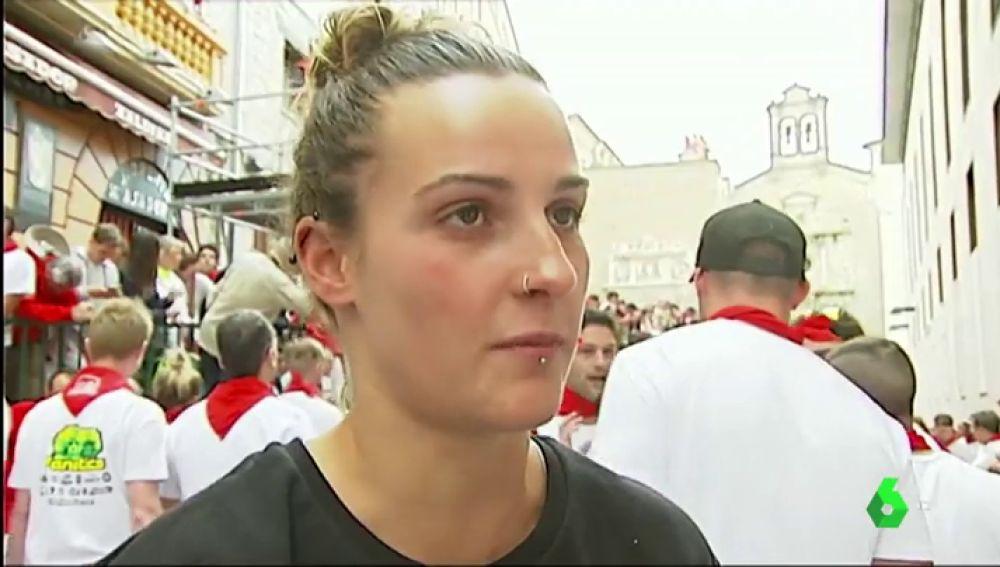 Laura, corredora en San Fermín