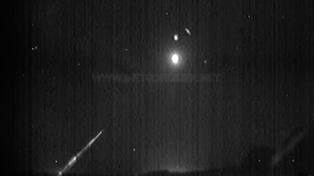 Bola de fuego de un asteroide