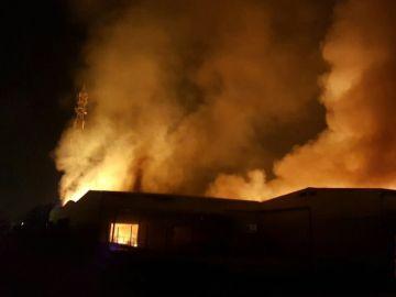 Incendio en una planta de Tarragona