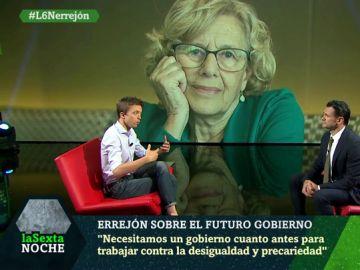 """Íñigo Errejón: """"Manuela Carmena desempeñaría muy bien cualquier cargo, pero no se lo han ofrecido"""""""
