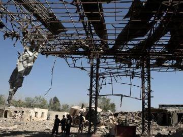 Imagen de archivo de una casa en Afganistán tras una explosión