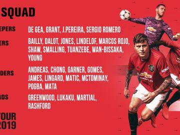 Pogba, en la gira del United