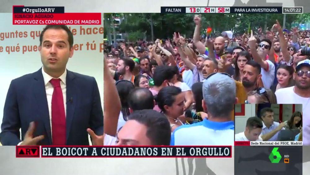"""Ignacio Aguado: """"Parece que solo se puede ser gay, lesbiana o bisexual si votas al PSOE o a Podemos"""""""