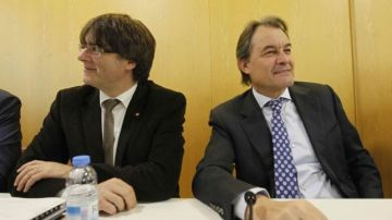 Artur Mas y Carles Puigdemont en una imagen de archivo.