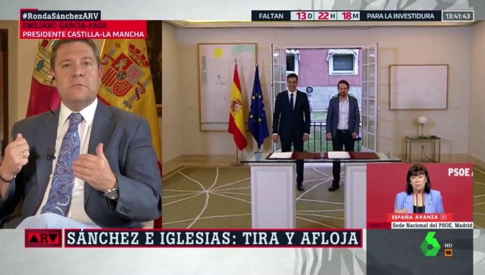 """García-Page, sobre las negociaciones para formar Gobierno: """"No existe el derecho a cupo. Los votos de Podemos cuentan pero no deciden"""""""