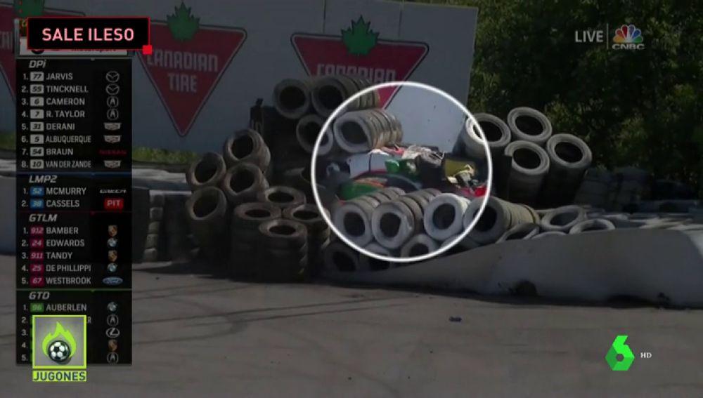 Brutal accidente a 225 km/h de Victor Franzoni: las protecciones le salvaron la vida