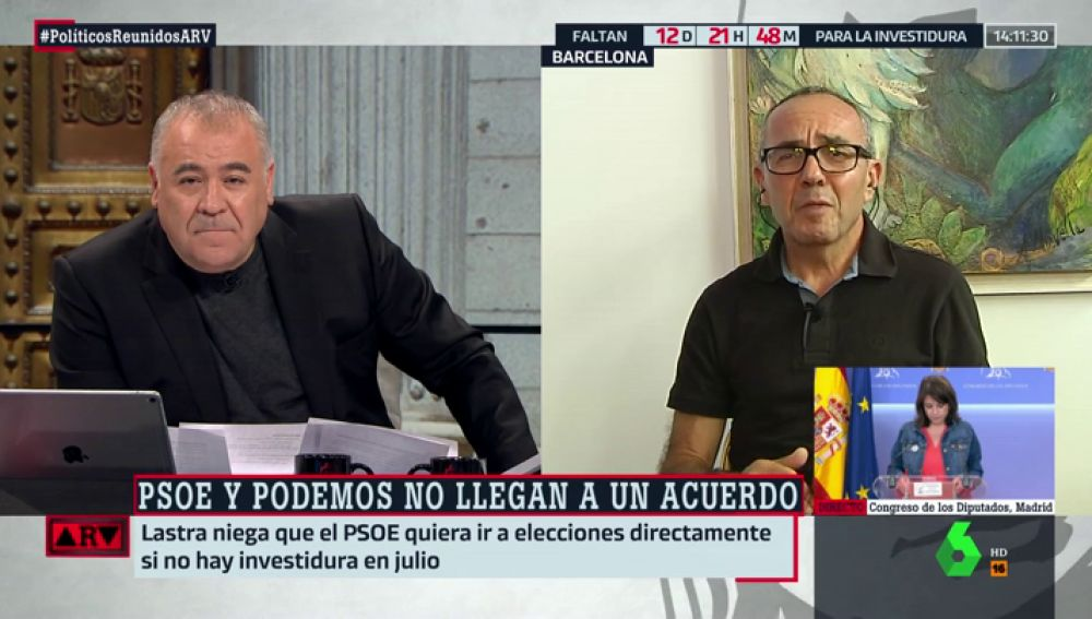"""Joan Coscubiela, sobre las negociaciones entre Sánchez e Iglesias: """"Cuando un acuerdo termina con alguien derrotado, termina mal"""""""