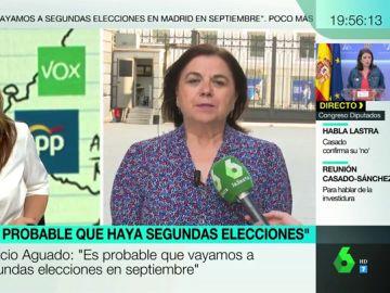 "Lucía Méndez, sobre Sánchez e Iglesias: ""Sorprende la crudeza con la que los dos han asumido un fracaso absoluto"""