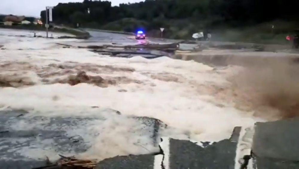 Efectos del temporal en Navarra