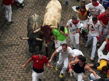 Tercer encierro de San Fermín con los toros de José Escolar