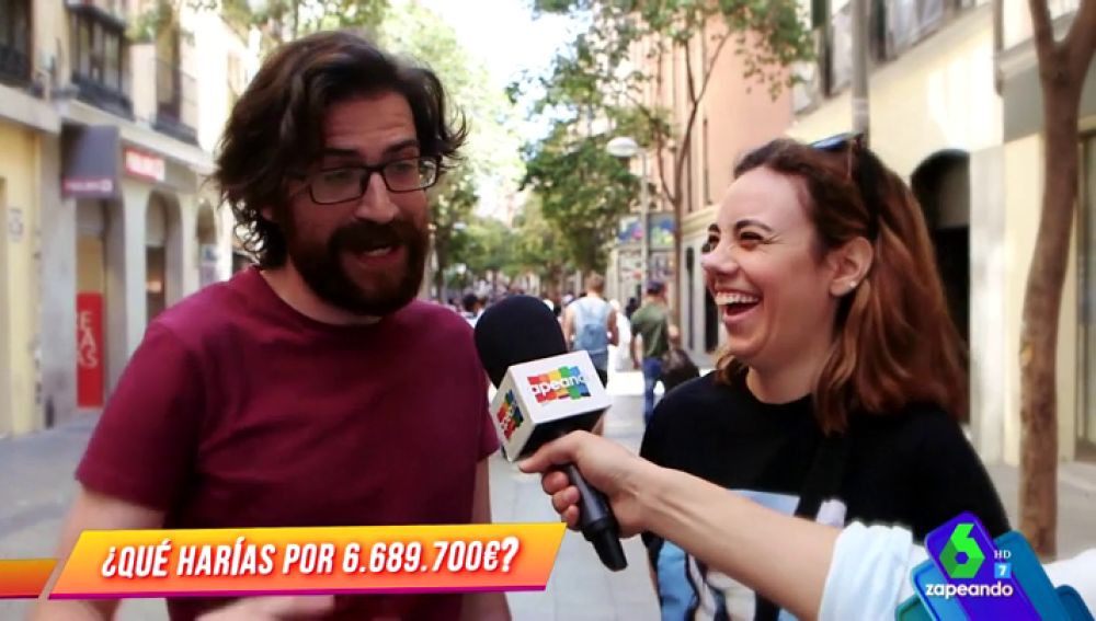 Los españoles se confiesan en Zapeando: ¿cuánto dinero han visto junto?, ¿qué es lo más difícil que han hecho para conseguirlo?