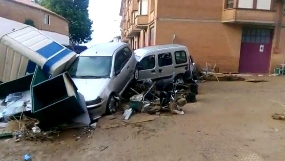 Noticias 1 Antena 3 (09-07-19) Así ha quedado Tafalla tras las graves inundaciones que han dejado al menos un fallecido