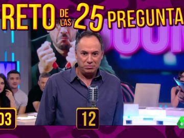 'Los Lobos' y Juanra Bonet se enfrentan al divertido reto de las 25 preguntas de Zapeando: ¿habrán conseguido el pleno?