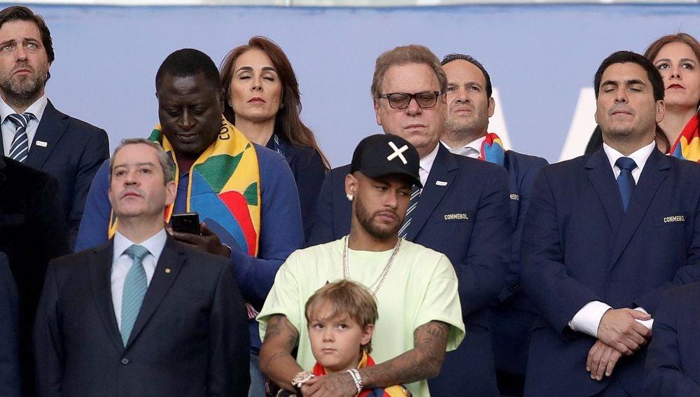 Neymar, en la final de la Copa América