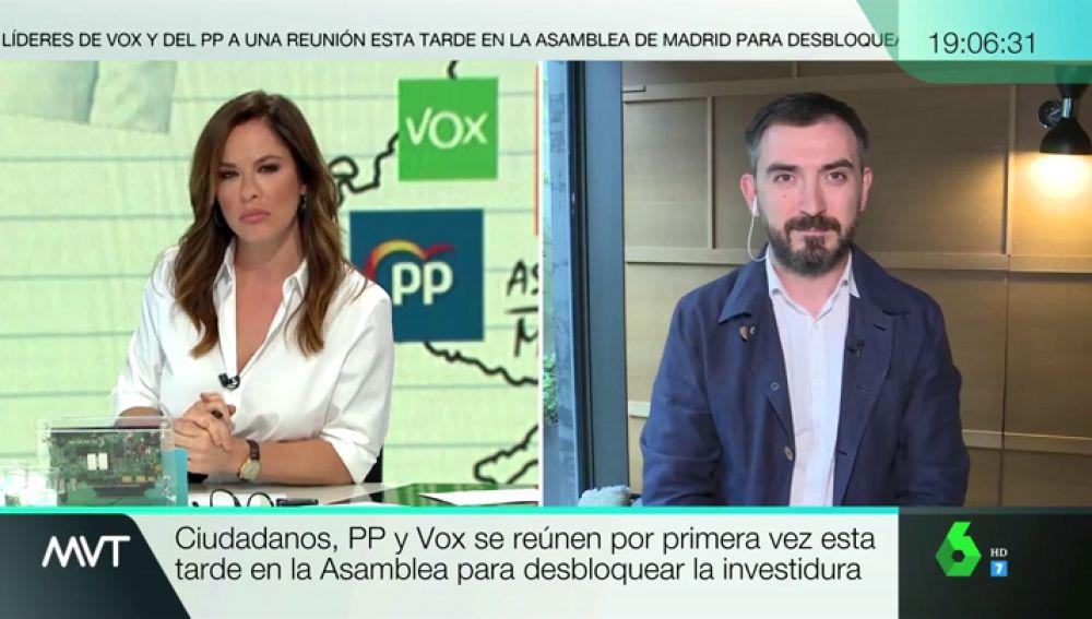 """Ignacio Escolar, sobre Cs: """"Llama la atención que de todos los vetos que podían levantar, desmonten el de la extrema derecha"""""""