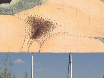 El grafiti de Sam3 que estuvo censurado durante unas horas.