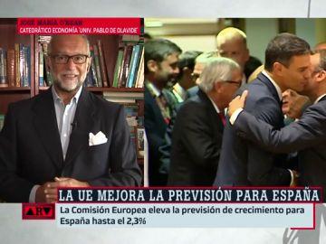 """José María O'Kean: """"España lleva cuatro años creciendo económicamente y sin Gobierno"""""""