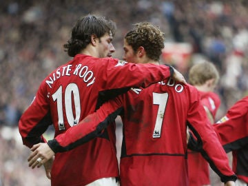 Cristiano Ronaldo y Van Nistelrooy en el Manchester United