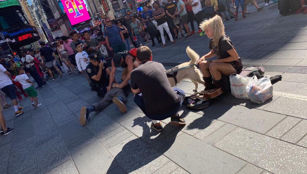 Imagen de la actuación policial en Times Square