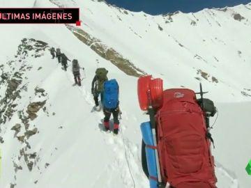 Revelan las últimas imágenes grabadas por los ocho montañeros que murieron en el Himalaya