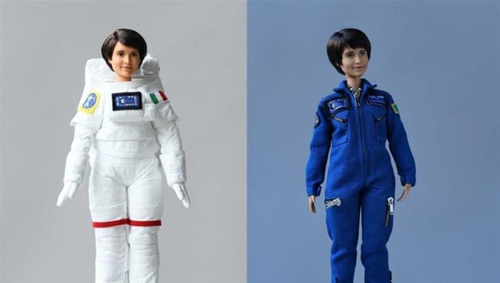 Así es la primera Barbie astronauta, inspirada en la italiana Samantha Cristoforetti.