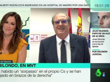 """Ángel Gabilondo: """"En Ciudadanos emplean el argumento de soy problemático porque no quieren ni sentarse, prefieren a Vox"""""""