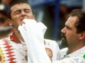 """La primera persona que atendió a Luis Enrique tras el codazo de Tassotti: """"Cuando acerco la toalla ya oigo el 'cra, cra, cra'"""""""