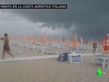 Al menos 20 heridos por el violento temporal que arrasa Italia, con vientos de 150 km/h y granizo del tamaño de naranjas