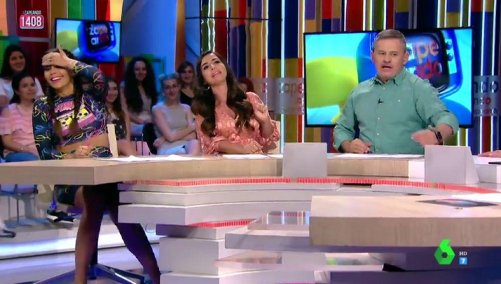 Cristina Pedroche y La Forte con Miki Nadal