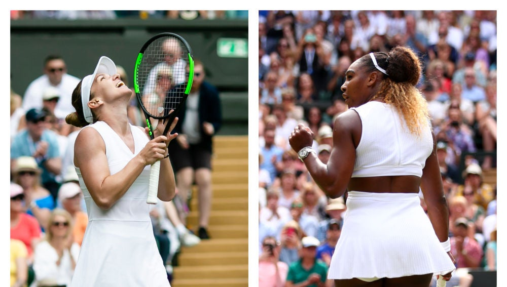 Simona Halep y Serena Williams
