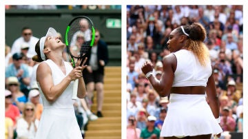 Simona Halep y Serena Williams