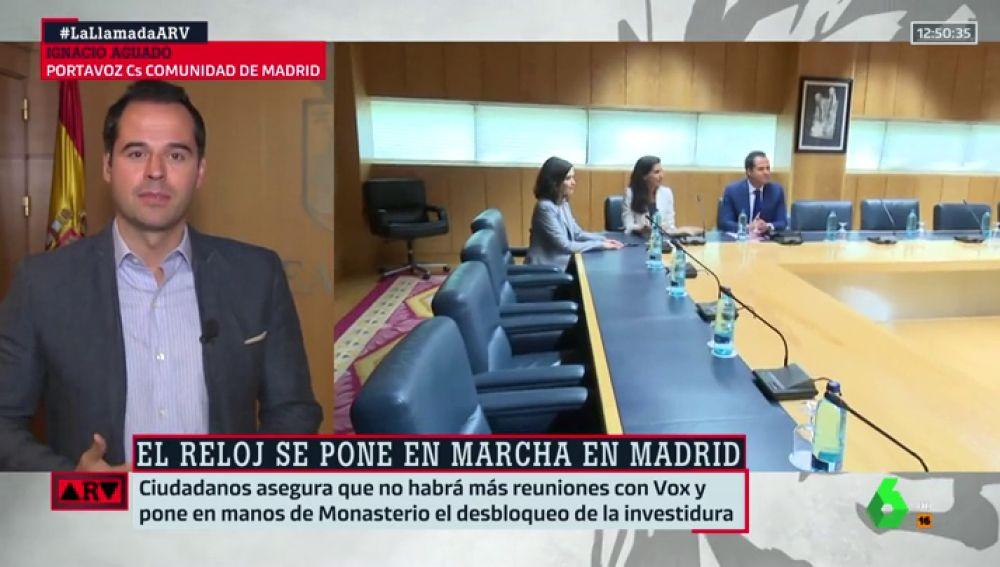 """Ignacio Aguado: """"No tengo problema en reunirme con todos los partidos, pero el acuerdo con el PP está cerrado"""""""