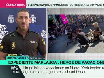 """Rubén Castillo, el policía español que salvó a un agente en Nueva York: """"Allí mueren muchos policías en intervenciones con armas"""""""