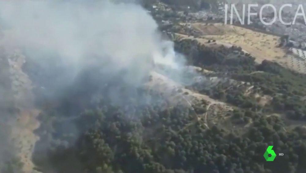Detenida una mujer por provocar un incendio cerca de La Alhambra