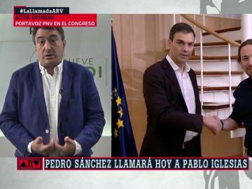 """Aitor Esteban: """"Que haya ministros de Podemos no incomoda al PNV si el programa está bien ajustado"""""""