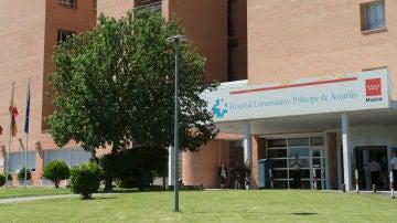 Fachada del Hospital Príncipe de Asturias de Alcalá de Henares.