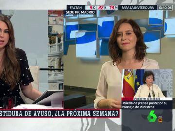 """Isabel Díaz Ayuso: """"Todo pinta a que en los próximos días tendremos pleno de investidura en la Comunidad de Madrid"""""""