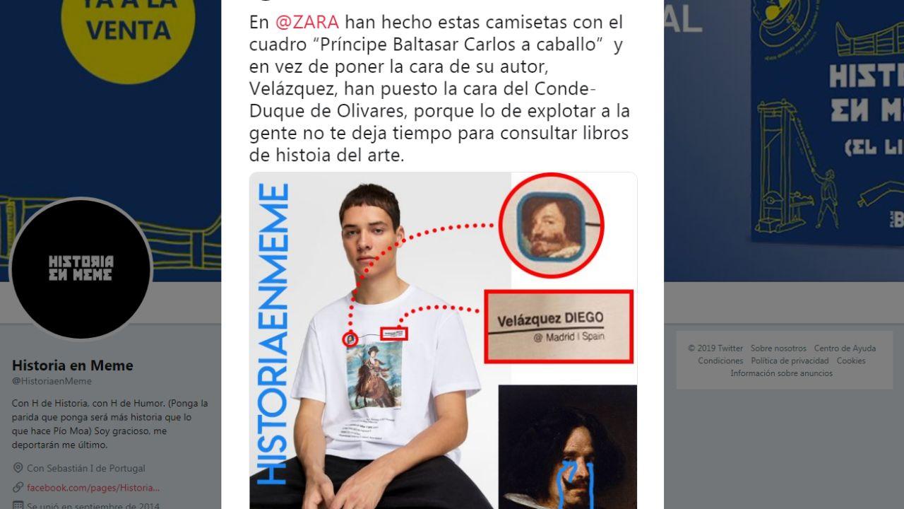 Velázquez confundido con el Conde Duque de Olivares