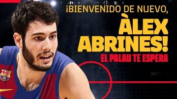 Álex Abrines, con la camiseta del Barcelona
