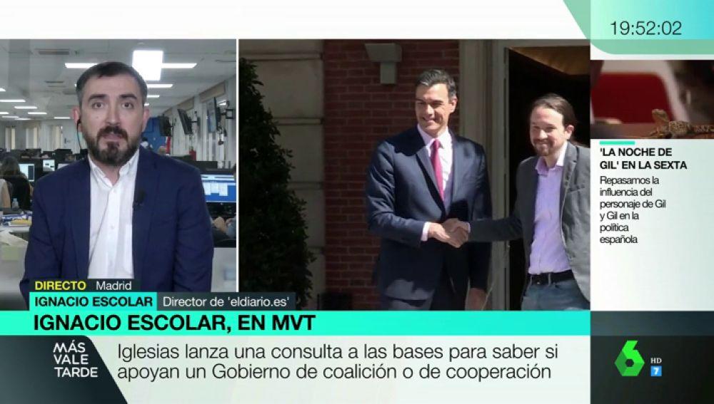 """Igancio Escolar: """"Si sale un Gobierno, estará entre lo que pide Sánchez y lo que pide Iglesias"""""""