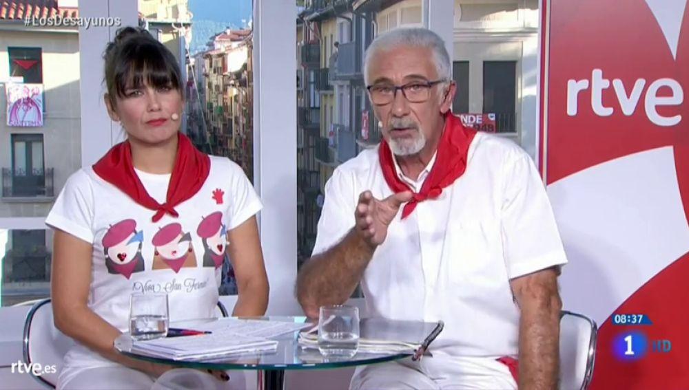 """Las disculpas del presentador de San Fermín por sus palabras sobre La Manada en TVE: """"Fue un lapsus"""""""