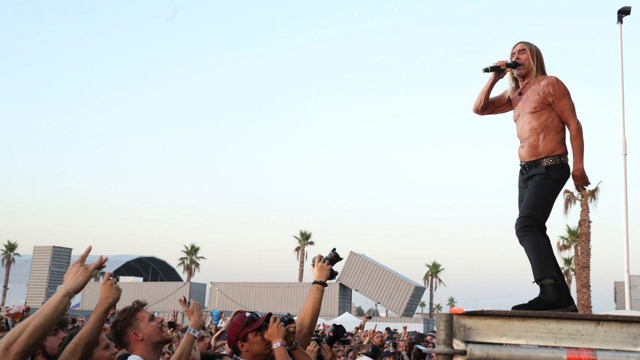 Iggy Pop durante su actuación en Mad Cool 2019