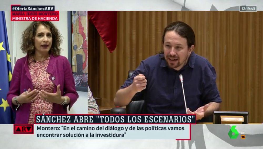 """María Jesús Montero, sobre el posible veto de Sánchez a Iglesias en el Gobierno: """"No se trata de vetos ni de imposiciones"""""""