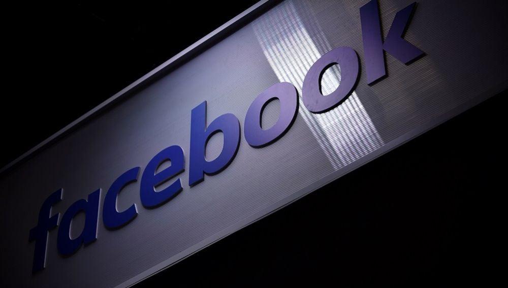 Vista del logo de la red social Facebook