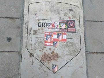 La placa de Griezmann, en el Metropolitano