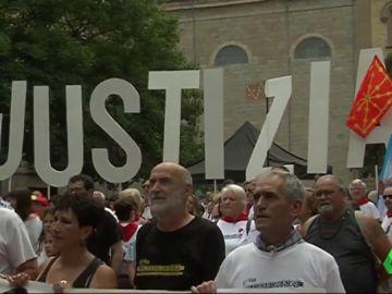 """Manifestación en Pamplona para pedir """"justicia"""" por los jóvenes de Alsasua encarcelados"""