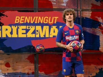 Antoine Griezmann, con la camiseta del Barcelona
