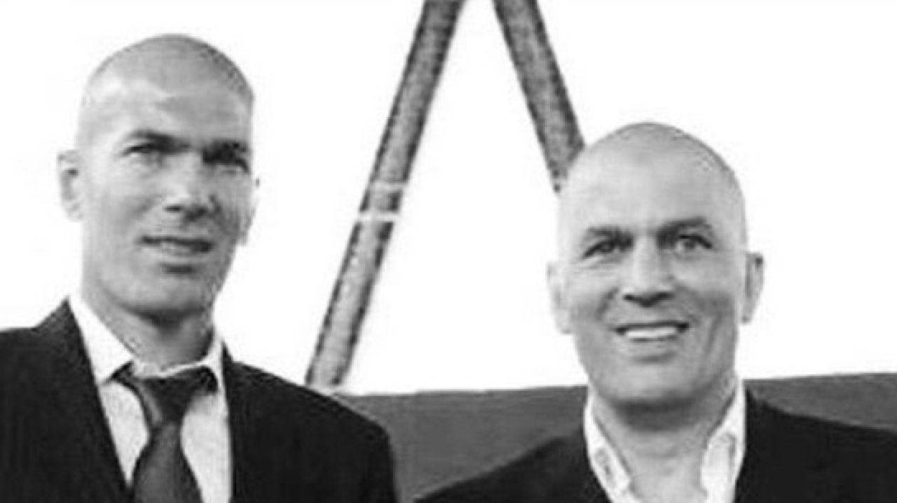 Zidane, junto a su hermano Farid
