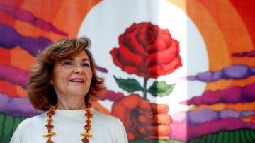 La secretaria de Igualdad de la Ejecutiva Federal y vicepresidenta del Gobierno en funciones, Carmen Calvo